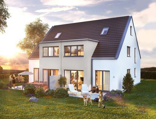 Moderne Doppelhausanlagen, Fürth-Oberfürberg