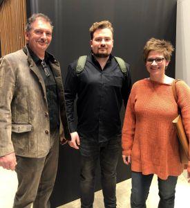 Geschäftsführer Volker Koch und Steffen Koch und Mitarbeiterin Regina Scholze